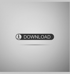 download button with arrow icon on grey background vector image