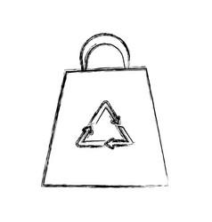 eco recyclabe bag cartoon vector image