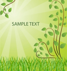 ecological background illustration vector image