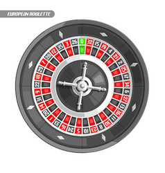 European roulette wheel vector