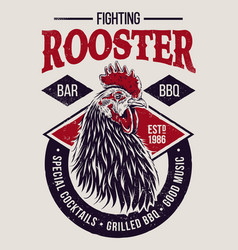 Fighting rooster design vector