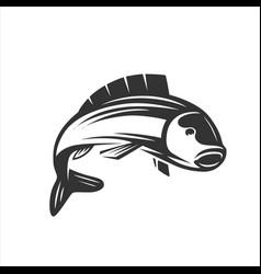 Fish fresh seafood template design vector