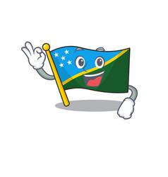 Flag solomon island scroll mascot design making vector