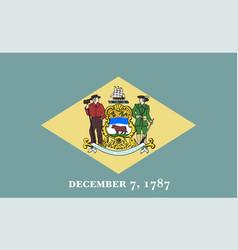 flag usa state delaware vector image
