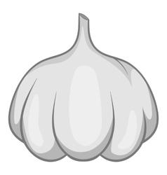 Garlic bulb icon gray monochrome style vector