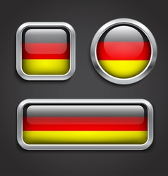 Germany flag glass buttons vector image