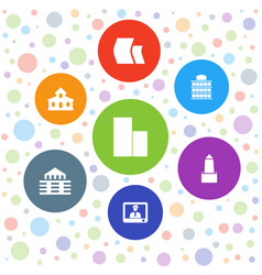 Government icons vector
