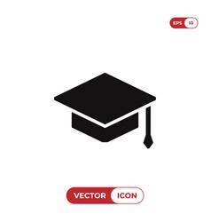 graduate cap icon vector image
