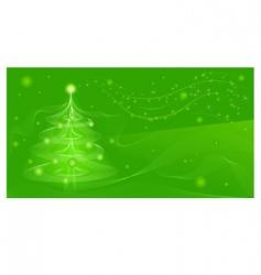 green fir vector image