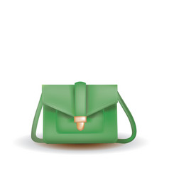 green woman bag vector image