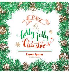 Have a holly jolly christmas vector