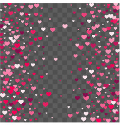heart confetti beautifully fall on the background vector image