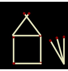 House made of matches vector