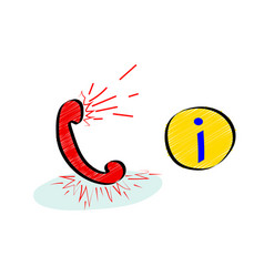 information support service hotline or call vector image
