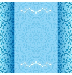 Invitation card with blue flowers vector