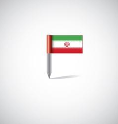 Iran flag pin vector