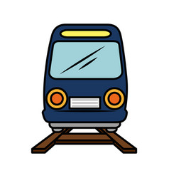 Isolated train transport vector