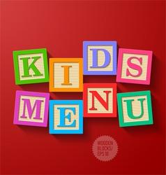 Kids Menu cover vector image