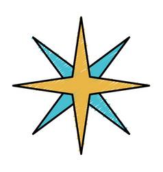 Location star icon vector
