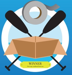 Logo for Duct Tape Cardboard Boat Race vector