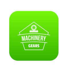 machinery icon green vector image