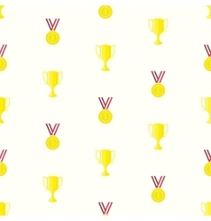 Medal cup seamless pattern vector image