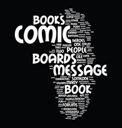 Message boards for comic books text background vector