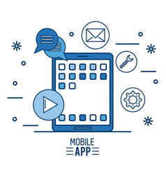 mobile app infographic vector image