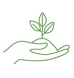 no plastic go green zero waste hand holding vector image