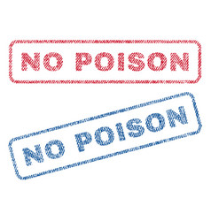 No poison textile stamps vector