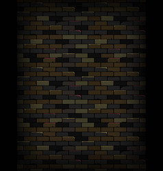 old dark brick wall texture background vector image