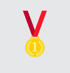 Olympic meda icon isolated on background modern f vector