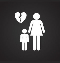 One parenting on black background for app or web vector