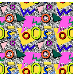 pattern memphis 80s vector image