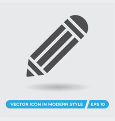 pencil icon simple sign for web site and mobile vector image