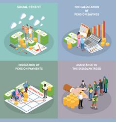 pension savings design concept vector image