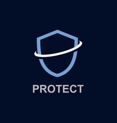 Protect logo template design vector