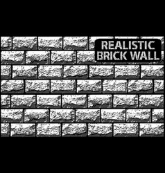 Realistic texture of grey contrast brick wall vector