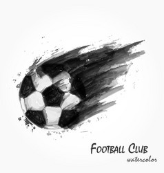 Realistic watercolor painting of football vector