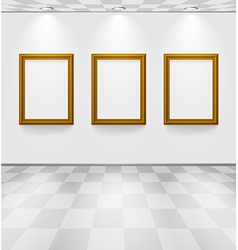 Room with three frames vector image