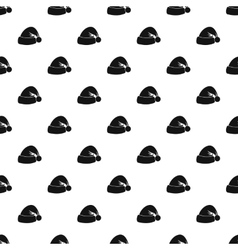 Santa hat pattern simple style vector