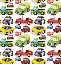 Seamless different kind transportations vector
