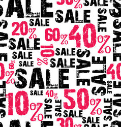 seamless sale background vector image