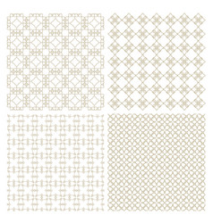 set of four delicate seamless patterns vector image