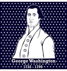 Silhouette George Washington vector
