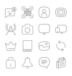 simple web icons set universal web icon to use vector image