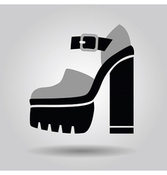 Single women platform high heel shoe icon vector