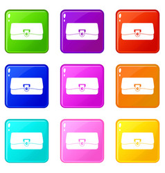 small wallet icons 9 set vector image vector image
