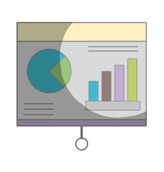 statistic bars presentation business in the vector image