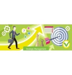Strategic Management Design Flat vector